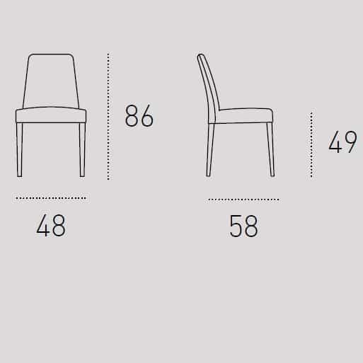 Καρέκλα Τραπεζαρίας Lucerna Target Point - Διαστάσεις