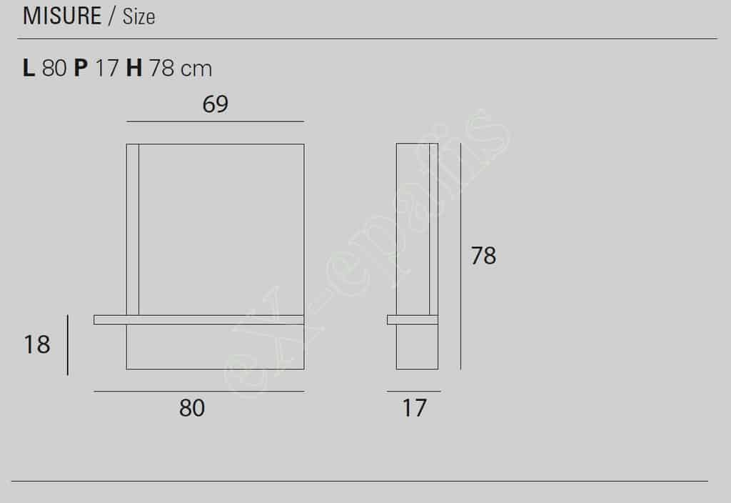 Καθρέφτης Modus Target Point - Διαστάσεις