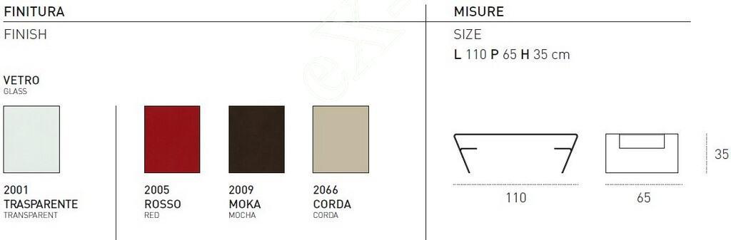 Τραπεζάκι Σαλονιού Airone Target Point - Χρώματα & Διαστάσεις