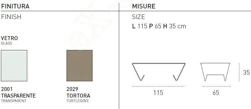 Τραπεζάκι Σαλονιού Lyra Target Point - Χρώματα & Διαστάσεις