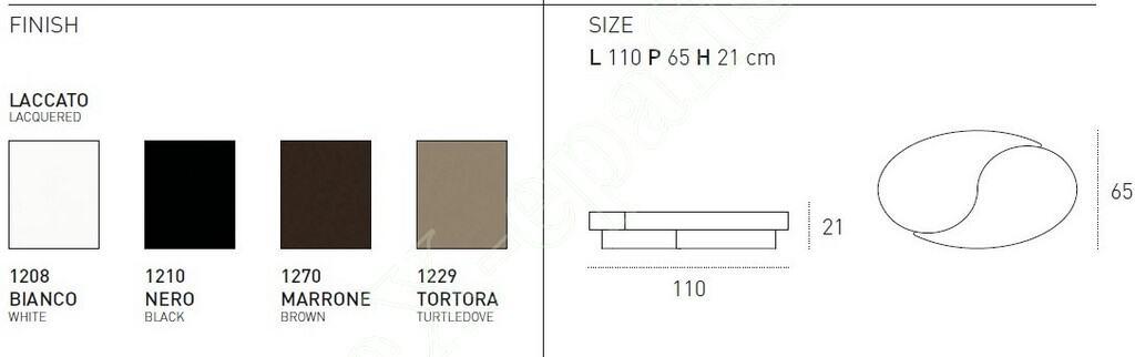 Τραπεζάκι Σαλονιού Tao Target Point - Διαστάσεις & Χρώματα