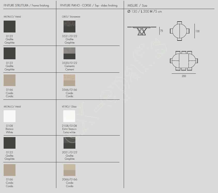 Τραπέζι Cronos Target Point - Χρώματα & Διαστάσεις