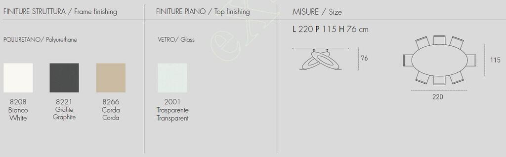 Τραπέζι Eclipse Oval Target Point - Χρώματα & Διαστάσεις