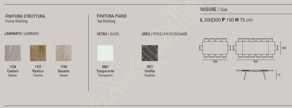 Τραπέζι Omnia Target Point - Χρώματα & Διαστάσεις