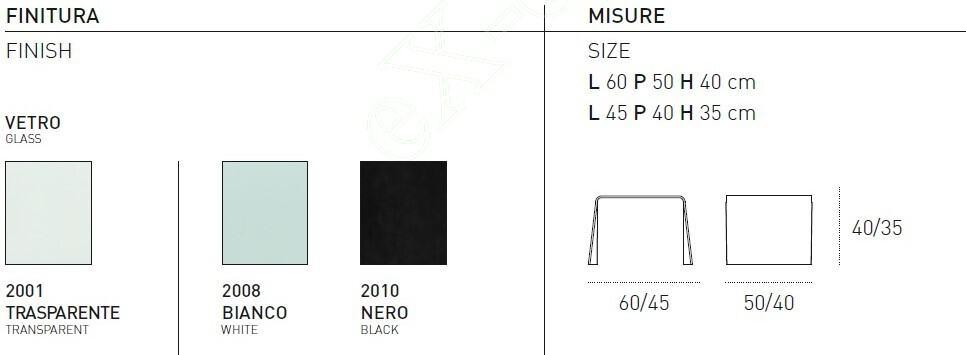 Τραπεζάκι Σαλονιού Quasar Target Point - Χρώματα & Διαστάσεις