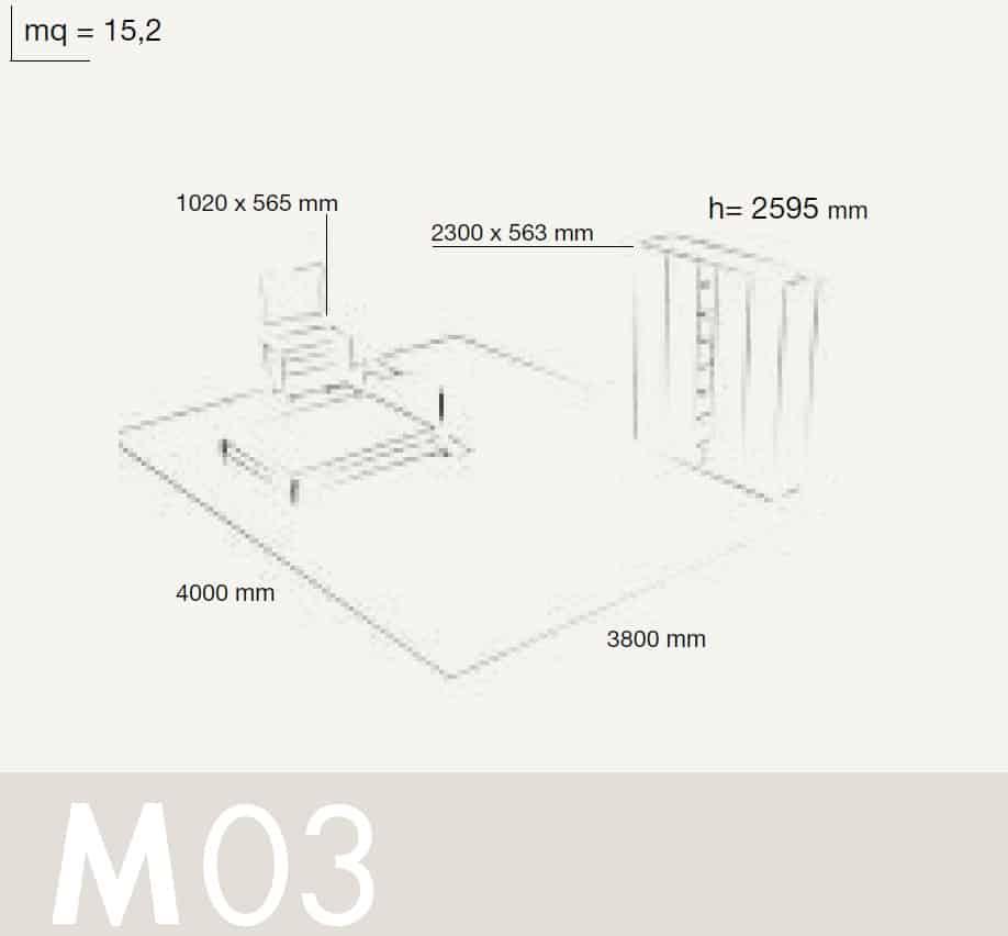 Bedrooms Colombini Volo M03