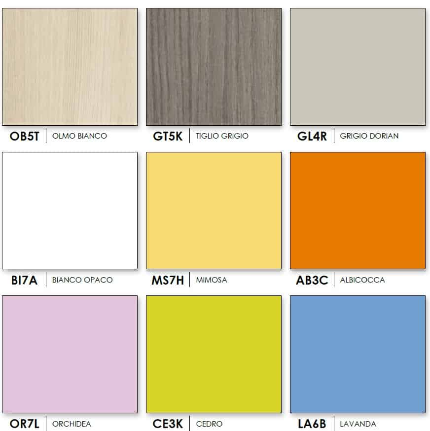 Wardrobe Target Colombini Colors 1